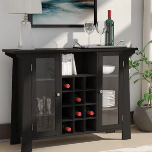 Cendrillon Wood Storage 12 Bottle Floor Wine Cabinet