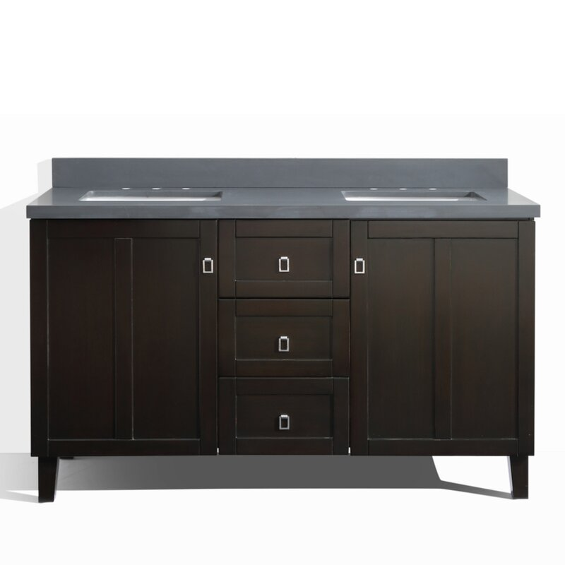 60 double sink bathroom vanity. 60  Double Sink Bathroom Vanity Set InFurniture Reviews Wayfair