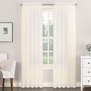 sheer voile solid sheer rod pocket single curtain panel - Window Sheers