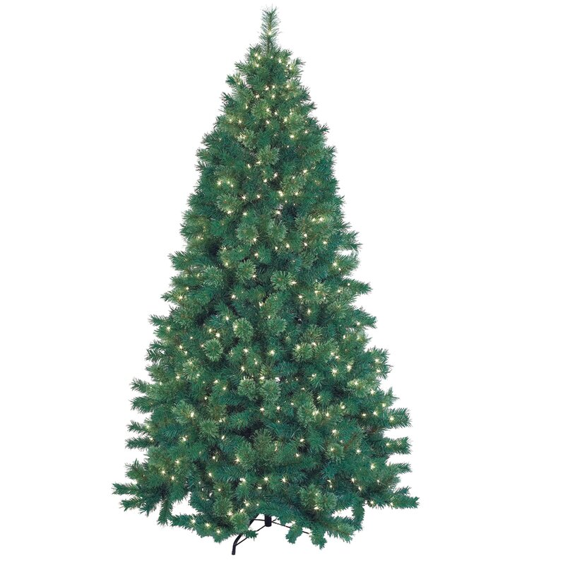 75 green artificial christmas tree with 600 lights and stand - Christmas Trees With Lights