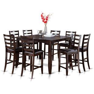 Red Barrel Studio Tamarack 9 Piece Counter Height Extendable Dining Set