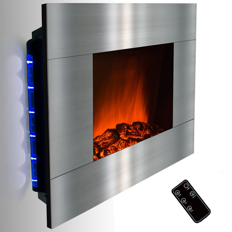 GoldenVantage Wall Mount Electric Fireplace & Reviews | Wayfair