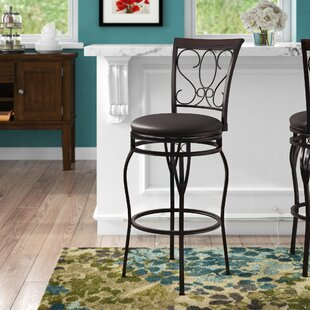 Greater Taree Adjustable Height Bar Stool Fleur De Lis Living