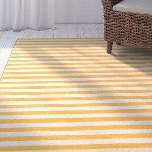 Halliday Yellow/White Indoor/Outdoor Area Rug