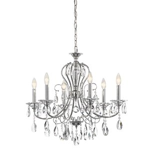 Jules 6-Light Crystal Chandelier