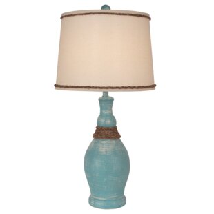 Jaheim Slender Neck Casual 28 Table Lamp with Rope Accent
