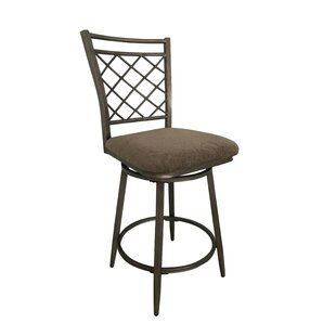 Vidor 44 Swivel Bar Stool (Set of 2) Fleur De Lis Living