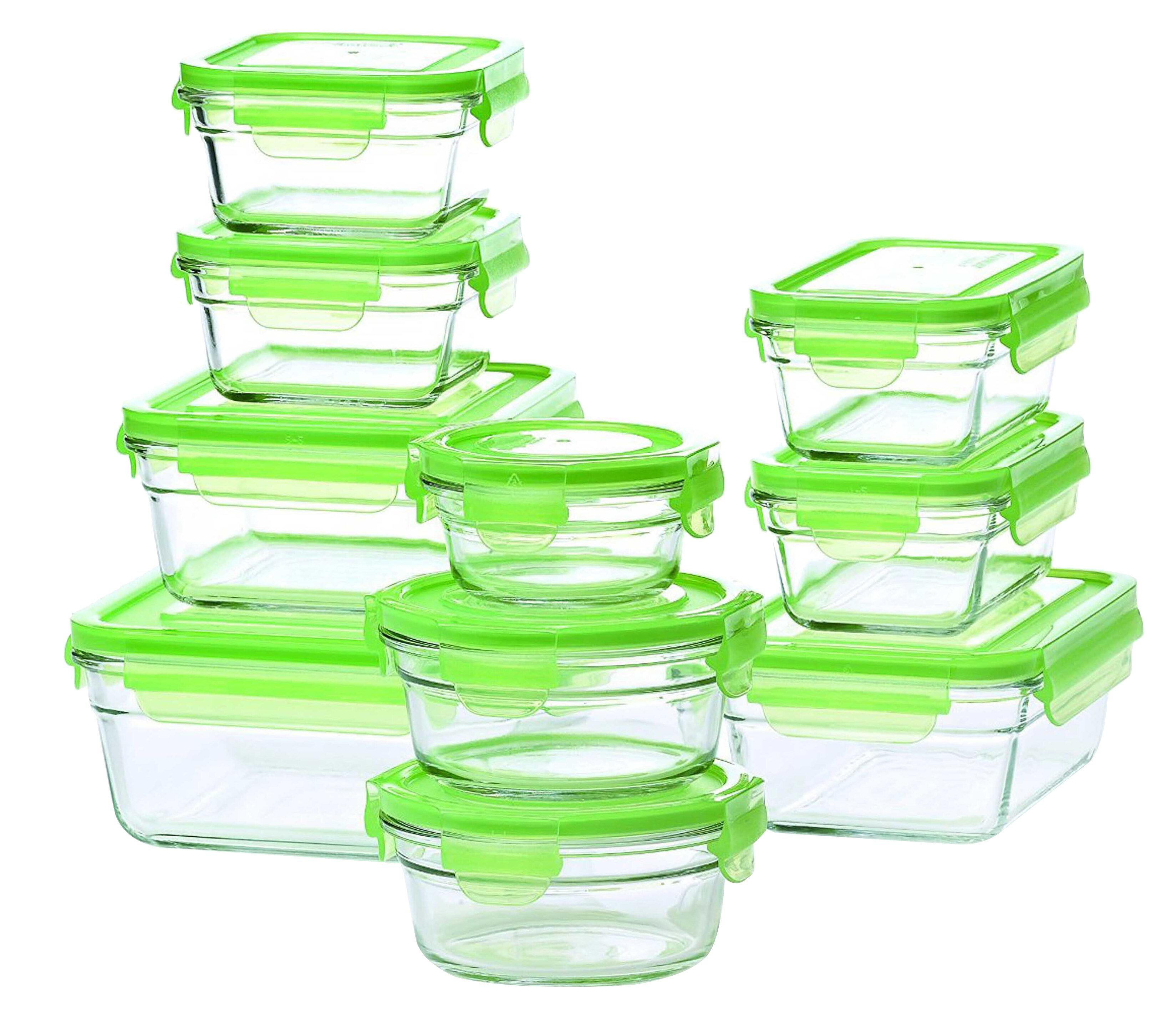 Glasslock Glasslock 10 Container Food Storage Set U0026 Reviews | Wayfair