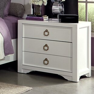 Affordable Price Fazeley 3 Drawer Nightstand By House of Hampton