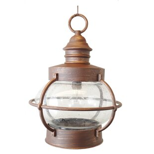 Compare & Buy Fynn 1-Light Outdoor Hanging Lantern By Breakwater Bay