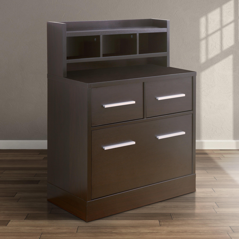 Hokku Designs 3 Drawer File Cabinet Workstation U0026 Reviews | Wayfair