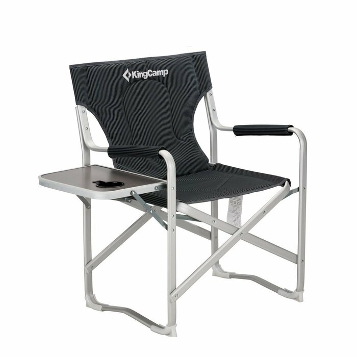 Amazing Portable Heavy Duty Folding Reclining Camping Chair With Armrest Side Table And Cup Holder Creativecarmelina Interior Chair Design Creativecarmelinacom