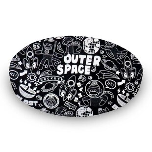 Monkeys Outer Space Fitted Crib Sheet By Sheetworld