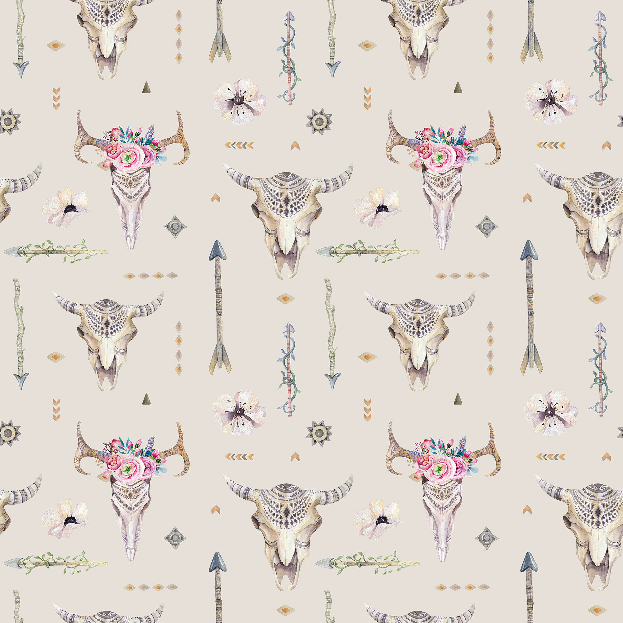 Bungalow Rose Della Tribal Themed Removable Peel And Stick Wallpaper Panel Wayfair