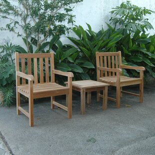 Kraker 3 Piece Teak Seating Group