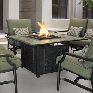 Wildon Home ® Carson Aluminum Propane Fire Pit Table