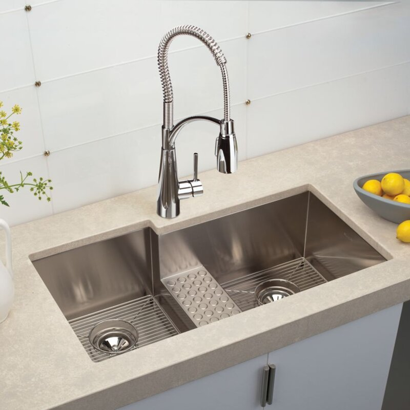 crosstown 36   x 21   double basin undermount kitchen sink elkay crosstown 36   x 21   double basin undermount kitchen sink      rh   wayfair com