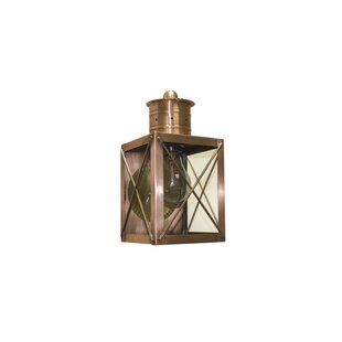Top 200 Series 1-Light Outdoor Wall Lantern By Brass Traditions
