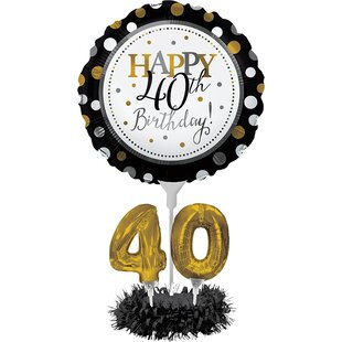 40th Birthday Balloon Centerpiece Kit