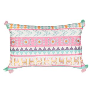 Kids La La Llama Embroidered Lumbar Pillow