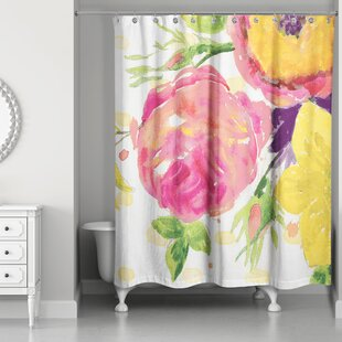 Prince Floral Single Shower Curtain