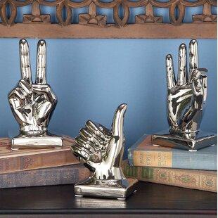 Silver Finish Sculpture Decor Wayfair