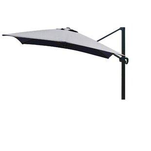 Carlisle 10' Square Cantilever Sunbrella Umbrella