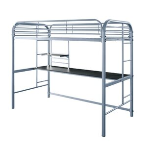 Watchet Metal Twin Loft Bed by Harriet Bee