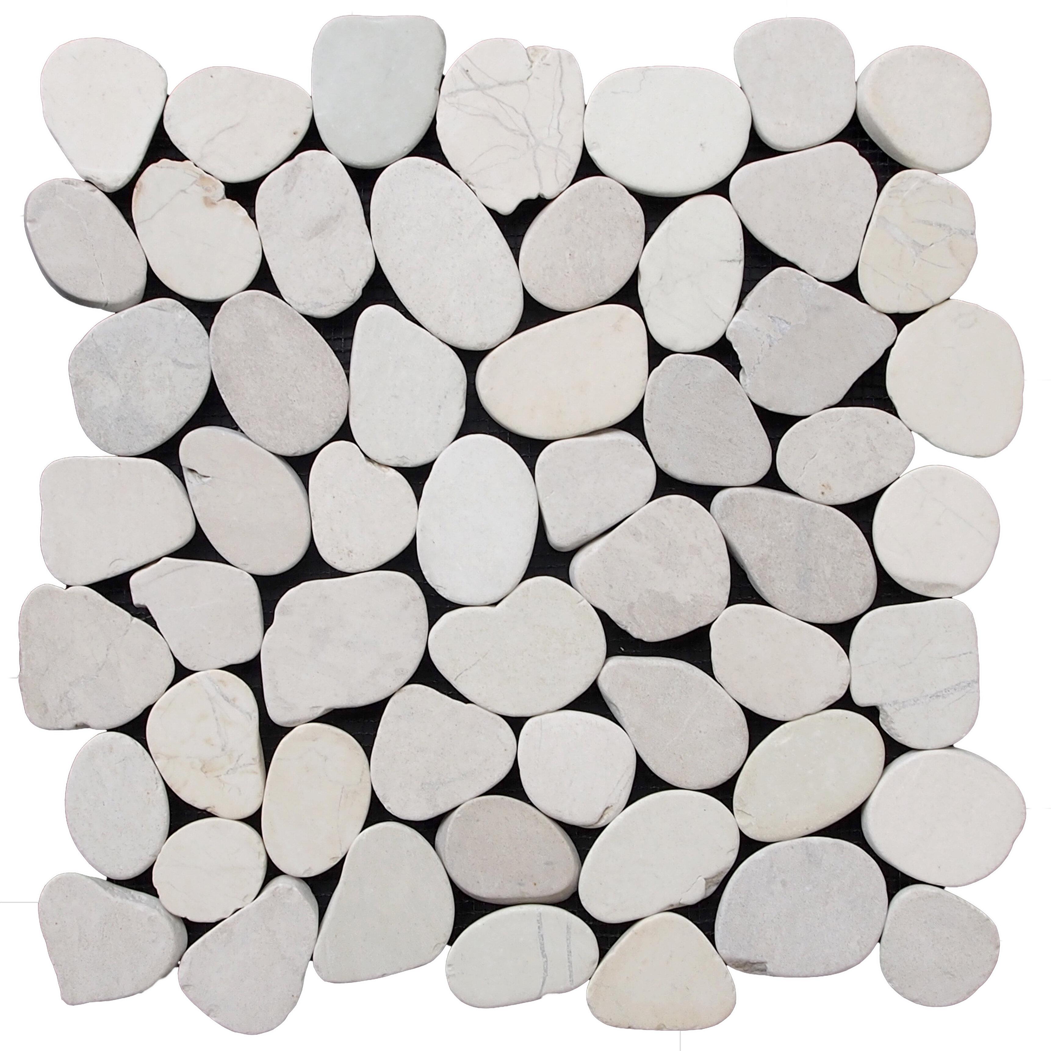 Pebble Tile Natural Stone Pebble Tile Reviews Wayfair