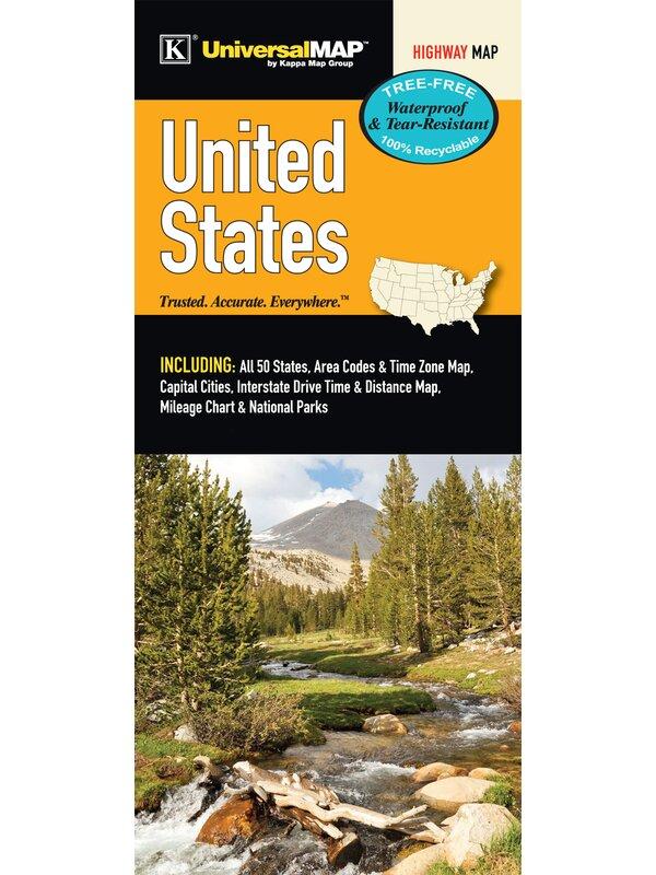 Universal Map United States Waterproof Map | Wayfair on
