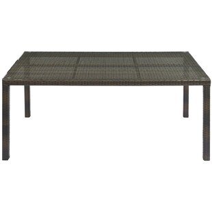 Rosenberry Glass Dining Table by Breakwater Bay