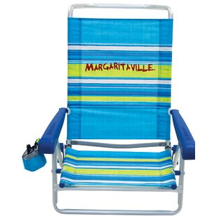 Margaritaville Classic 5-Position Lay Flat Reclining Beach Chair by Rio Brands