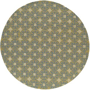 St James Hand-Hooked Yellow Indoor/Outdoor Area Rug by Charlton Home