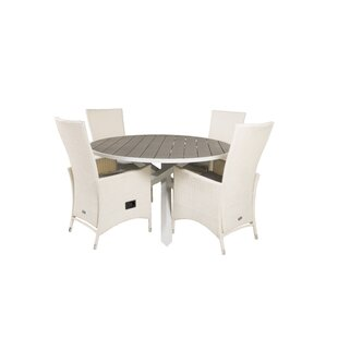 Akia 4 Seater Dining Set With Cushions By Sol 72 Outdoor