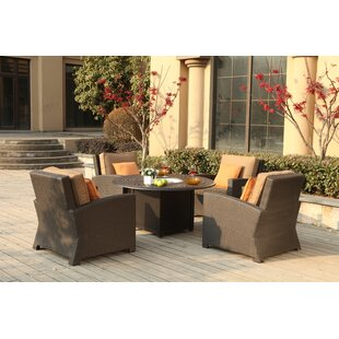Stockholm 5 Piece Conversation Set with Cushions
