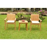 Dolores Luxurious 3 Piece Teak Bistro Set
