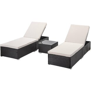 Black Wicker Rattan Outdoor Chaise Lounge Chairs You Ll Love In 2021 Wayfair