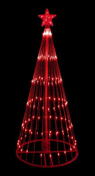Lb international 4 light show cone christmas tree lighted yard 4 light show cone christmas tree lighted yard art decoration sciox Images