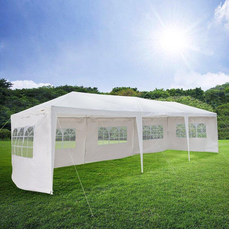 Zimtown 29 5 Ft W X 10 Ft D Steel Party Tent Wayfair