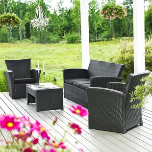 Santiago 5 Seater Rattan Sofa Set By Sol 72 Outdoor