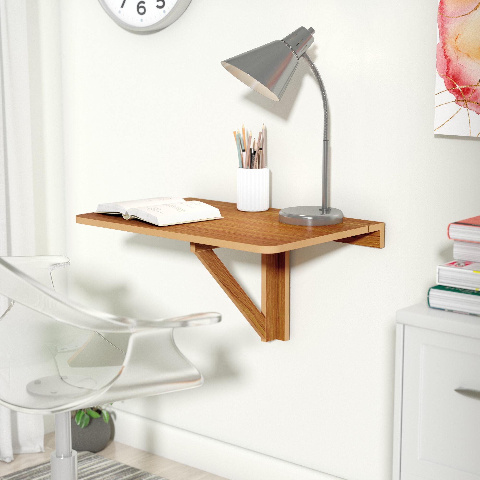 zipcode design eddie wall mounted floating desk reviews wayfair. Black Bedroom Furniture Sets. Home Design Ideas