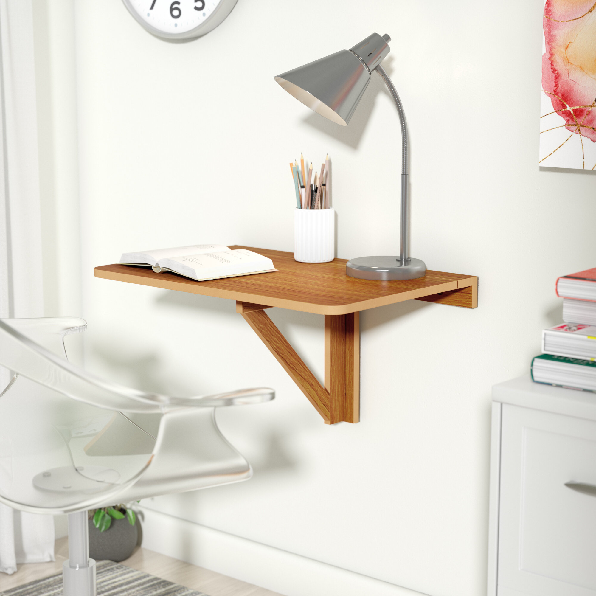 Zipcode Design Eddie Wall Mounted Floating Desk U0026 Reviews | Wayfair