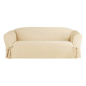 Solid Box Cushion Sofa Slipcover