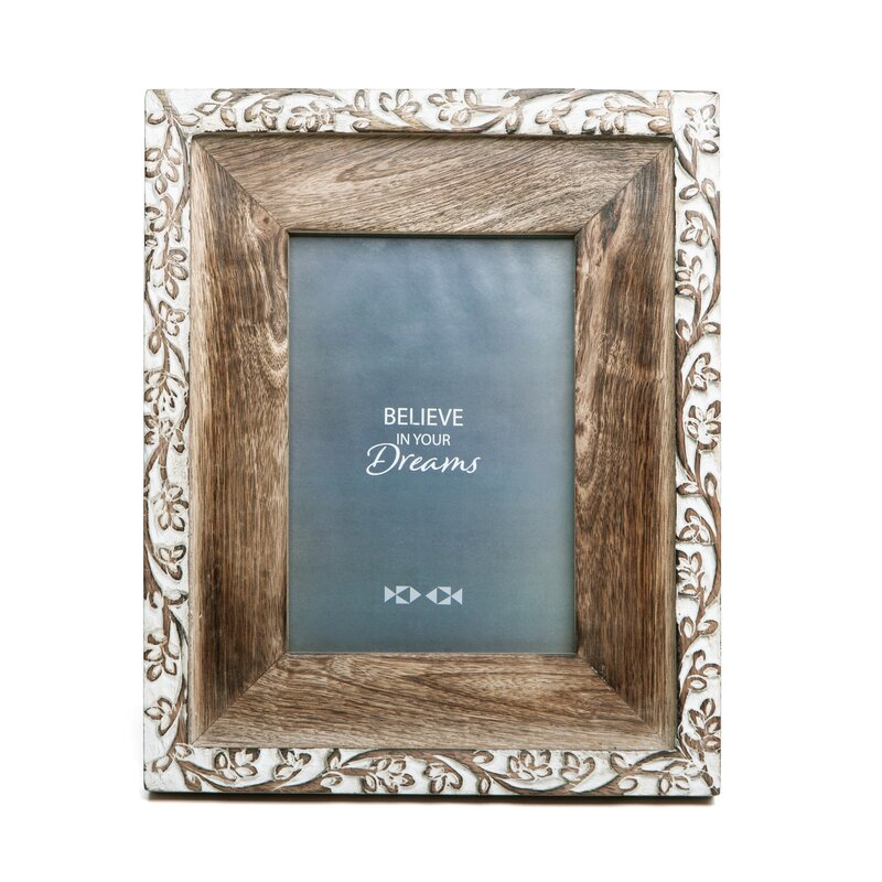 engraved wood picture frame