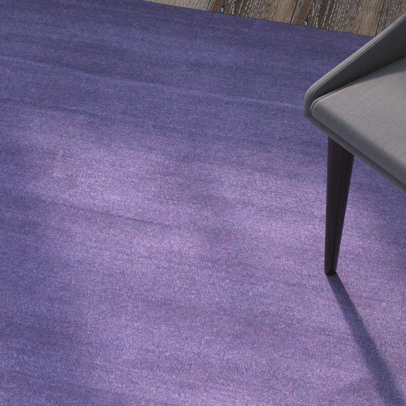 Wade Logan Bargo Wool Dark Purple Area Rug Reviews Wayfair