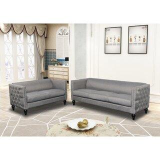 Annuziata 2 Piece Living Room Set by House of Hampton SKU:EC964792 Shop