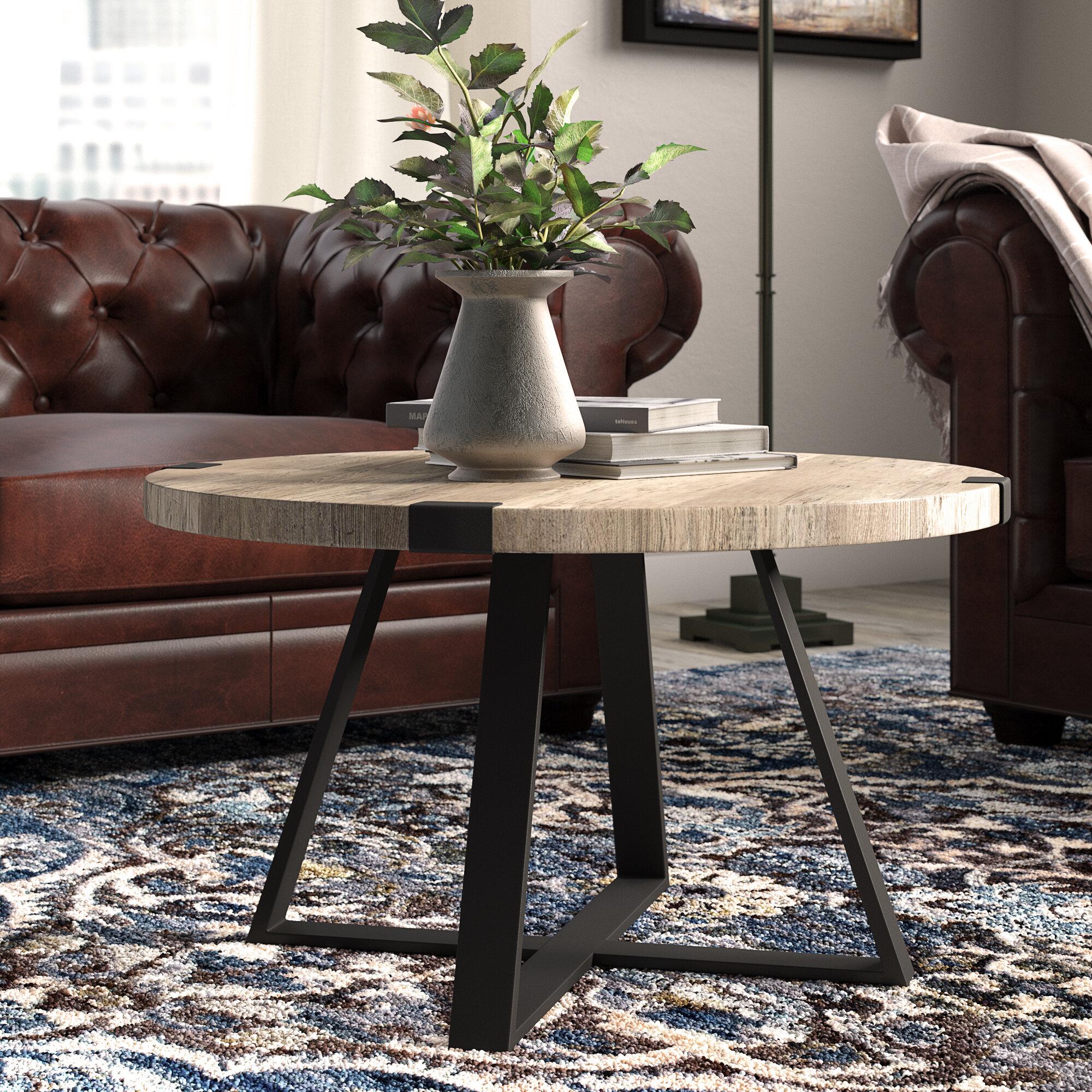 Laurel Foundry Modern Farmhouse Enrique Cross Legs Coffee Table Reviews Wayfair