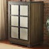 Window Pane Door Wood Cabinet by Lamps Per Se