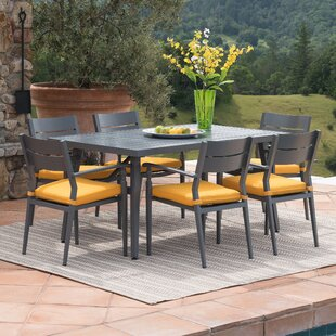 Look for Lee-Robinson 7 Piece Dining Set with Cushions Best reviews