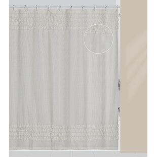 Prudhomme Polyester/Cotton Single Shower Curtain